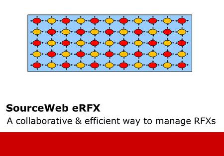 SourceWeb eRFX A collaborative & efficient way to manage RFXs.