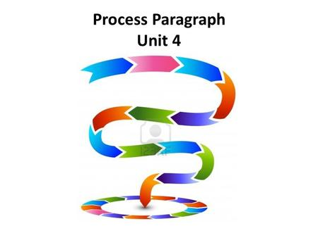 Process Paragraph Unit 4