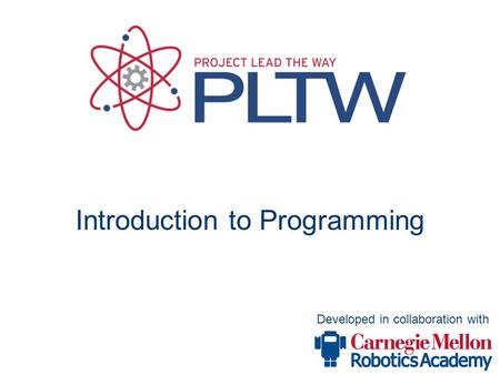 Developed in collaboration with Introduction to Programming.