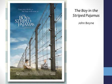 The Boy in the Striped Pajamas John Boyne. Accolades Two Irish Book Awards New York Times Bestseller List Carnegie Medal Sold more than 5 million copies.