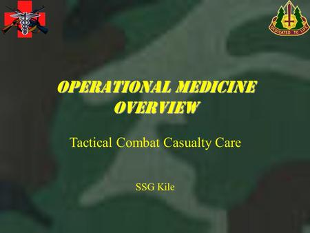 Operational medicine overview