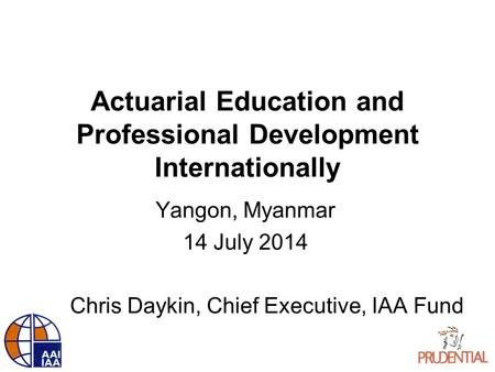 Actuarial Education and Professional Development Internationally