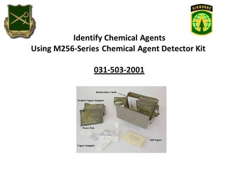 Identify Chemical Agents