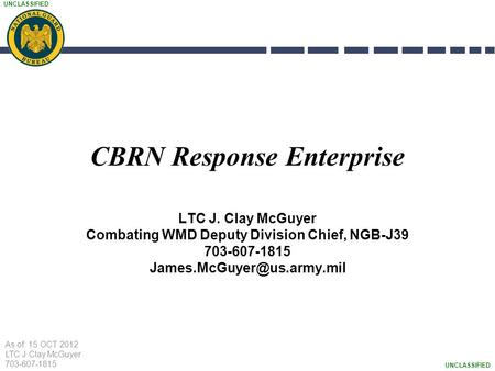 CBRN Response Enterprise