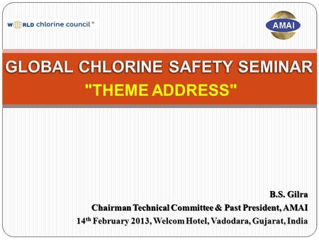 B.S. Gilra Chairman Technical Committee & Past President, AMAI 14 th February 2013, Welcom Hotel, Vadodara, Gujarat, <strong>India</strong> THEME ADDRESS