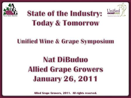 Allied Grape Growers, 2011. All rights reserved..