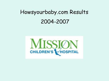 Howsyourbaby.com Results 2004-2007. Howsyourbaby.com WHAT This survey helps parents of babies in intensive care nurseries. HOW You will be asked Questions.