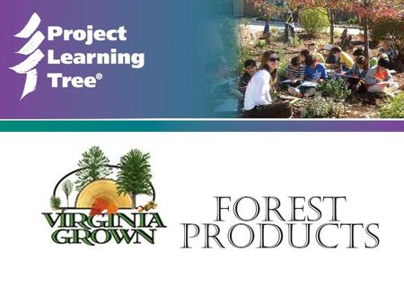 "Forest Products. This slide show can be used as a stand alone resource or to support the activity ""We All Need Trees"" in the Project Learning Tree PreK-8."