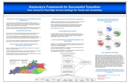 Kentucky's Framework for Successful Transition from School to Post-High School Settings for Youth with Disabilities INTERAGENCY TRANSITION COUNCIL FOR.