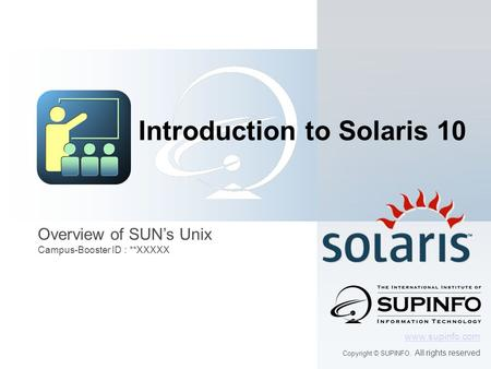 Introduction to Solaris 10