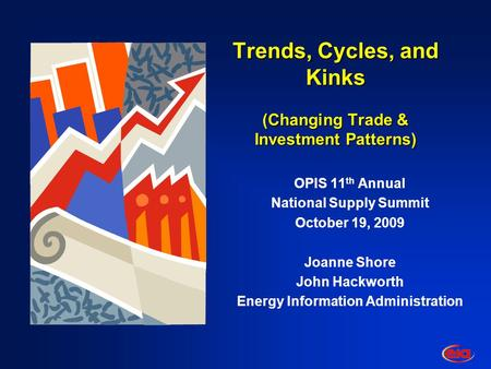 Trends, Cycles, and Kinks (Changing Trade & Investment Patterns) OPIS 11 th Annual National Supply Summit October 19, 2009 Joanne Shore John Hackworth.
