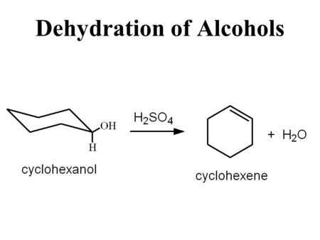 Dehydration of Alcohols. C - C X Y To make C=C need to eliminate X, Y. Elimination Reactions.