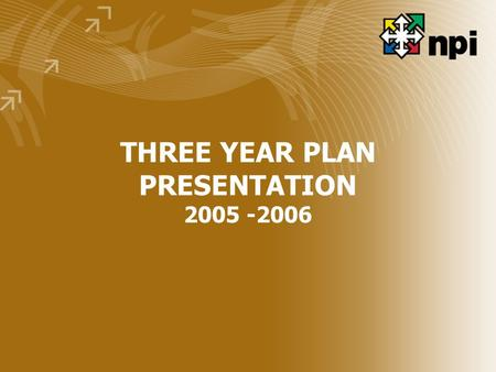 THREE YEAR PLAN PRESENTATION 2005 -2006. MANDATE Tasked with the responsibility of improving productivity in all spheres of the nation's economic and.