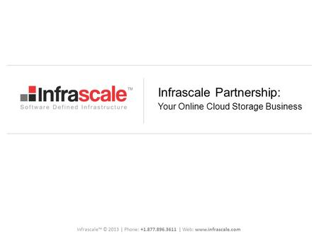 Infrascale Partnership: