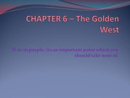 If its in purple, its an important point which you should take note of.