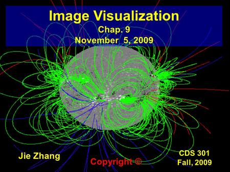 CDS 301 Fall, 2009 Image Visualization Chap. 9 November 5, 2009 Jie Zhang Copyright ©