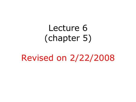 Lecture 6 (chapter 5) Revised on 2/22/2008. Parametric Models for Covariance Structure We consider the General Linear Model for correlated data, but assume.