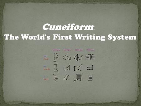 world's first writing system