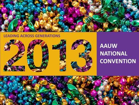 AAUW - Empowering Women Since 1881 AAUW National Convention Branch Fundraising Ideas Old and New, Tried and True.