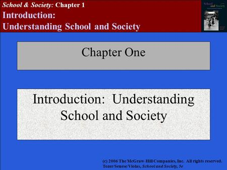 Introduction: Understanding School and Society