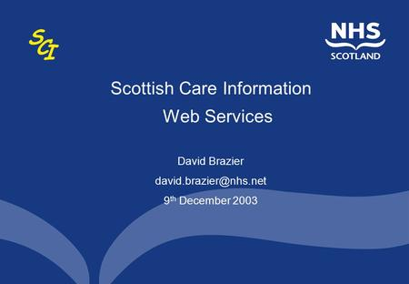 Scottish Care Information Web Services