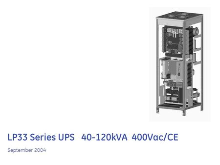 LP33 Series UPS 40-120kVA 400Vac/CE September 2004.