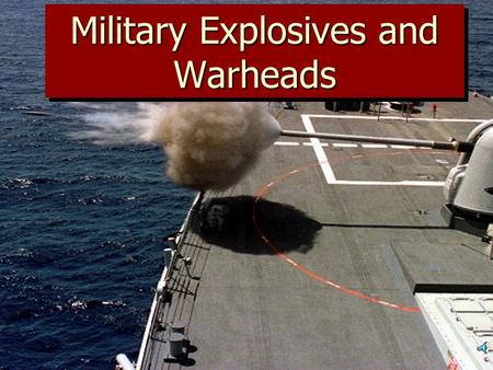Military Explosives and Warheads ExplosionExplosion Definition: A reaction that produces a change in the state of matter that results in a rapid and.