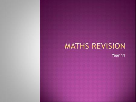 Year 11. Only 30 school days till Maths exam April - 9 days in school Half term end of May – Maths exam is the morning we return. No opportunity for last.