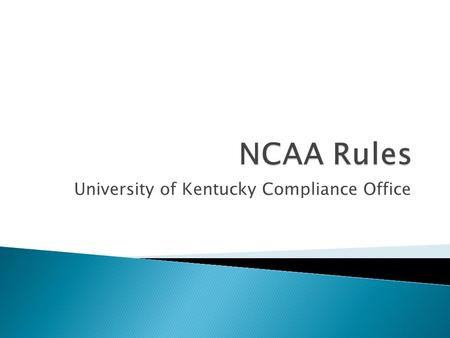 University of Kentucky Compliance Office