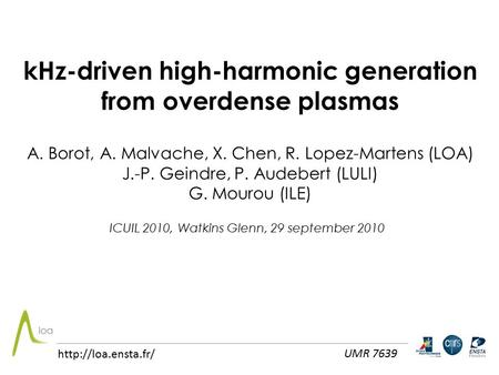 kHz-driven high-harmonic generation from overdense plasmas