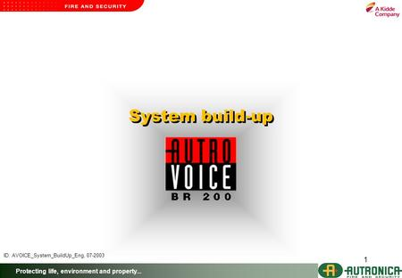 Protecting life, environment and property... 1 System build-up ID: AVOICE_System_BuildUp_Eng, 07-2003.