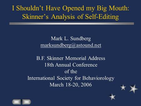B.F. Skinner's Contribution to Psychology