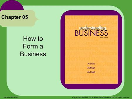 How to Form a Business Chapter 05 McGraw-Hill/Irwin