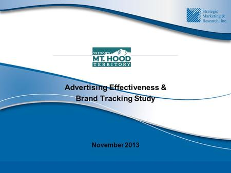 Advertising Effectiveness & Brand Tracking Study November 2013.