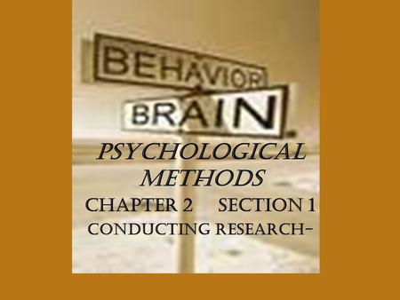psychological methods