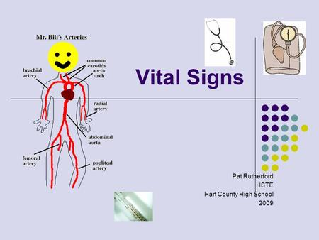 Vital Signs Pat Rutherford HSTE Hart County High School 2009.