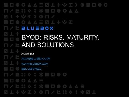 BYOD: RISKS, MATURITY, AND SOLUTIONS ADAM ELY