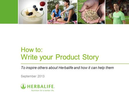 How to: Write your Product Story