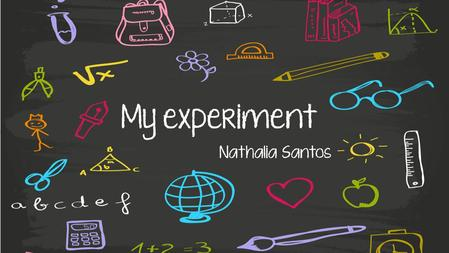 My experiment Nathalia Santos. Weeks 1 – 5 = What is this project about? After feeling a little bit lost, we decided to talk about clothing. We thought.