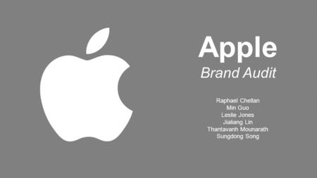 marketing audit for apple The innovative success that is apple, inc katherine johnson johnson553@marshalledu yang li  management, and operations commons,marketing.