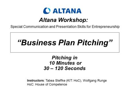 Business Pitch Examples - Explain Your Business Quickly and Clearly
