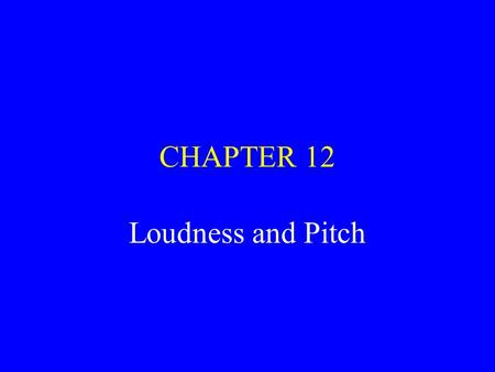 loudness and pitch relationship