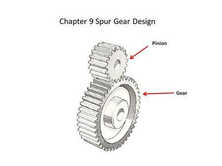 Chapter 9 Spur Gear Design