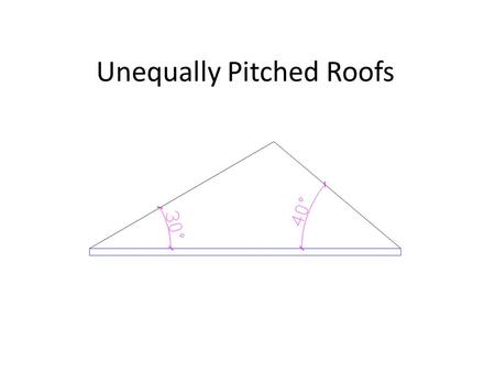 Unequally Pitched Roofs