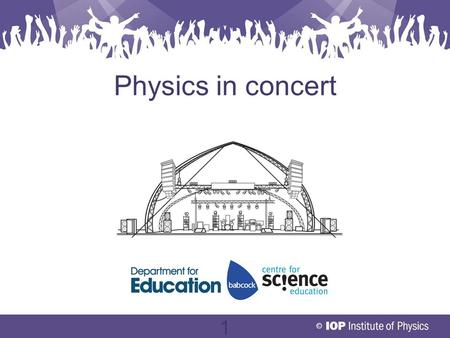 © 1 Physics in concert. © 2 Objectives To understand how engineers use physics to set up a concert LightingElectricitySound.