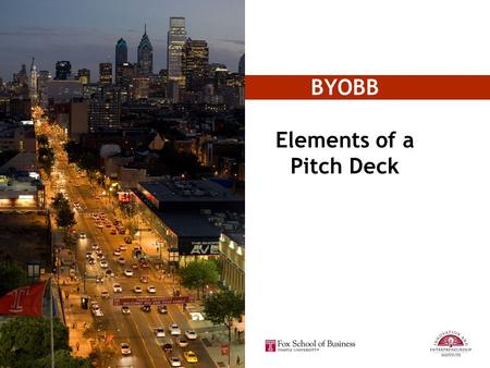 Elements of a Pitch Deck