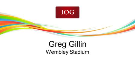 Greg Gillin Wembley Stadium. Page with images Balanced Event Calendar and an Elite Pitch? IOG December 2011.