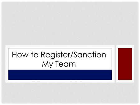 How to Register/Sanction My Team. First you will create your managers account Go To www.usssa.com Choose FASTPITCH.