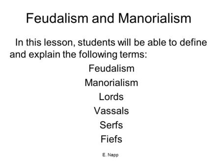 Fuedalism in the middle ages examples of economic, social and political essay