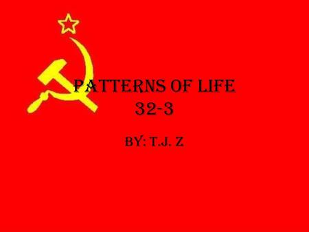 Patterns of Life 32-3 By: T.J. Z. Lesson Questions How was Russia society organized? How did religion support the social system? What Daily activities.